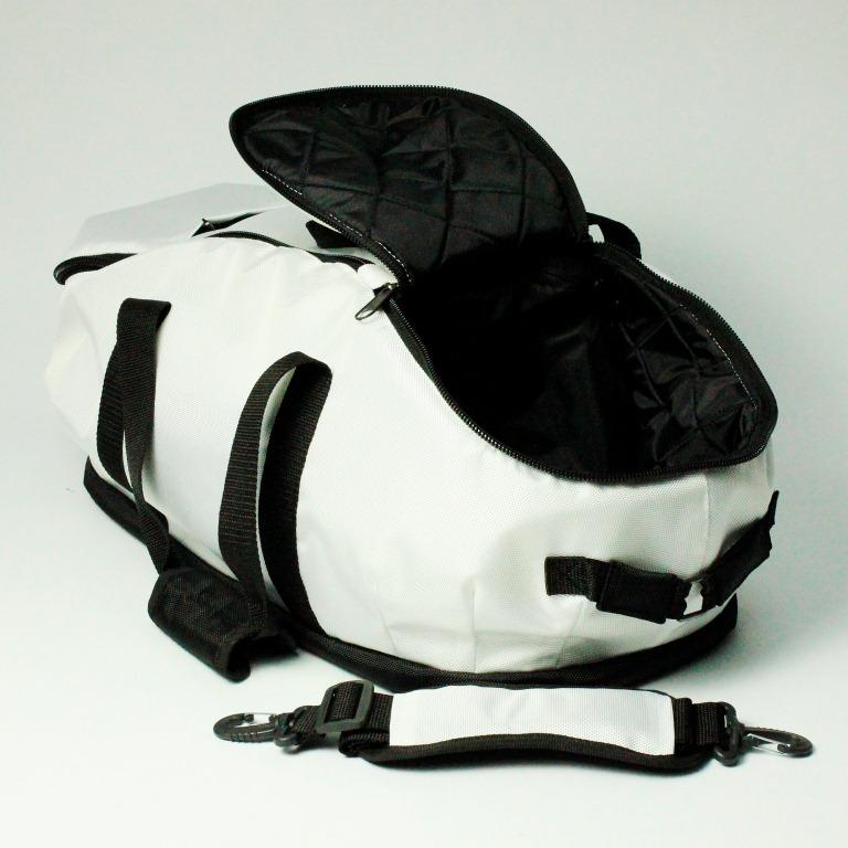 Белая спортивная сумка, стильная спортивная сумка, премиальная спортивная сумка, надежная спортивная сумка, купить стильную спортивную сумку, спортивная сумка infinity