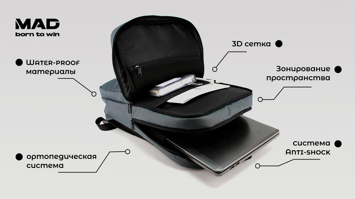 рюкзак для ноутбука nettex от MAD